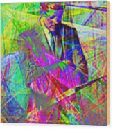 John Fitzgerald Kennedy Jfk In Abstract 20130610 Wood Print