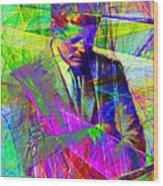 John Fitzgerald Kennedy Jfk In Abstract 20130610v2 Wood Print