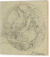 John Flaxman, British 1755-1826, Design For A Medal Wood Print