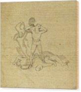 John Flaxman, British 1755-1826, Figure Standing Wood Print