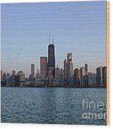John Hancock Building And Chicago Il Skyline Wood Print