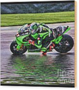 John Hopkins 2005 Motogp Red Bull Suzuki Wood Print