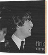 John Lennon, Beatles Concert, 1964 Wood Print