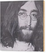 John Lennon Wood Print by Donna Wilson