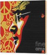 John Lennon Imagine Wood Print by Sassan Filsoof