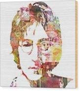 John Lennon Wood Print by Mike Maher
