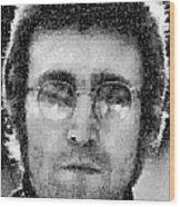John Lennon Mosaic Image 16 Wood Print