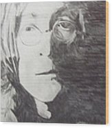 John Lennon Pencil Wood Print by Jimi Bush