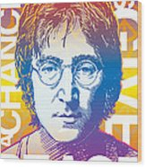 John Lennon Pop Art Wood Print by Jim Zahniser