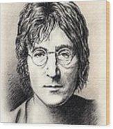 John Lennon Portrait Wood Print by Wu Wei
