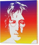 John Lennon The Legend Wood Print