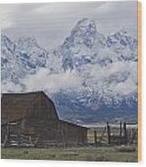 John Moulton Barn Grand Teton National Park Wyoming Wood Print