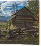 John Oliver Cabin Cades Cove Tn Wood Print by Paul Herrmann