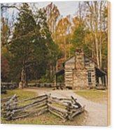 John Oliver Pioneer Cabin Wood Print