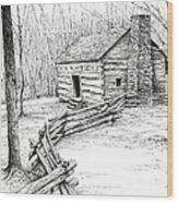 John Ownby Cabin Wood Print