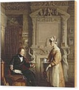John Sheepshanks And His Maid Wood Print