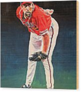 John Smoltz - Atlanta Braves Wood Print