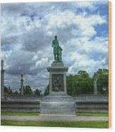 John Thomas Statue  Wood Print