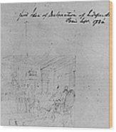 John Trumbull Sketch Wood Print