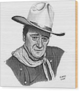 John Wayne #1 Wood Print
