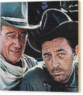 John Wayne And Robert Mitchum El Dorado 1967 Publicity Photo Old Tucson Arizona 1967-2012 Wood Print