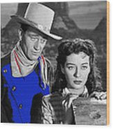 John Wayne Gail Russell Angel And The Badman  Publicity Photo 1947-2012 Wood Print