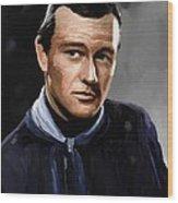 John Wayne In Stagecoach Wood Print by Robert Wheater