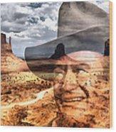 John Wayne Monument Valley Wood Print