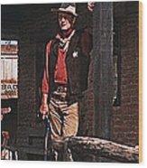 John Wayne Porch Of His Sheriff's Office Rio Bravo  Old Tucson Arizona 1959-2013 Wood Print