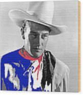 John Wayne Publicity Photo Overland Stage Raiders 1938 Wood Print