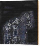 John Wayne The Horse Soldiers 1959 Homage #1 C.1880 Horse And Saddle-2009 Wood Print