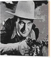 John Wayne Two-fisted Law  1932 Publicity Photo Wood Print