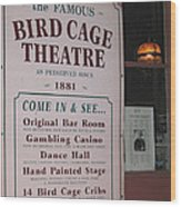 John Wayne's Filmography Bird Cage Theater Tombstone Az  2004 Wood Print