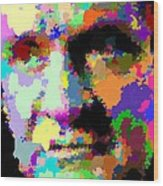 Johnny Cash - Abstarct Wood Print
