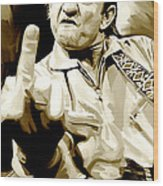 Johnny Cash Artwork 2 Wood Print