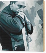 Johnny Cash Artwork 3 Wood Print