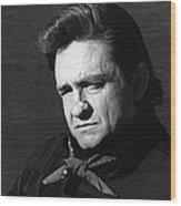 Johnny Cash Close-up The Man Comes Around Music Homage Old Tucson Az  Wood Print