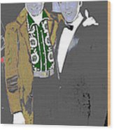 Johnny Cash  Elvis Presley Backstage Memphis Tn  Photographer Unknown  Wood Print