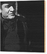 Johnny Cash Film Noir Homage Old Tucson Arizona 1971 Wood Print