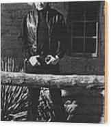Johnny Cash Gunslinger Hitching Post Old Tucson Arizona 1971  Wood Print