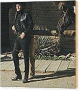 Johnny Cash Horse Old Tucson Arizona 1971 Wood Print