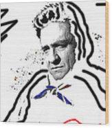 Johnny Cash Man In White Literary Homage Old Tucson Arizona 1971-2008 Wood Print