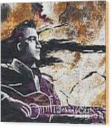 Johnny Cash Original Painting Print Wood Print