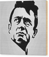 Johnny Cash Poster Art Portrait Wood Print