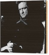 Johnny Cash Sitting With Cup  Old Tucson Arizona 1971-2009 Wood Print