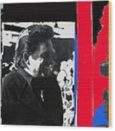 Johnny Cash  Smiling Collage 1971-2008 Wood Print