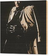 Johnny Cash Trench Coat  Sepia Variation Old Tucson Arizona 1971 Wood Print