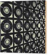 Johnny Cash Vinyl Records Wood Print