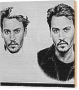 Johnny Depp 4 Wood Print
