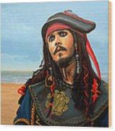 Johnny Depp As Jack Sparrow Wood Print